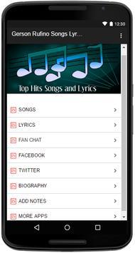 Gerson Rufino Songs Lyrics screenshot 1