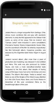 Javiera Mena Songs Lyrics apk screenshot