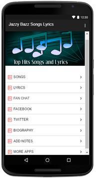 Jazzy Bazz Songs Lyrics screenshot 1