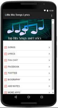 Little Mix Songs Lyrics screenshot 1