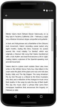 Ritchie Valens Songs Lyrics screenshot 4