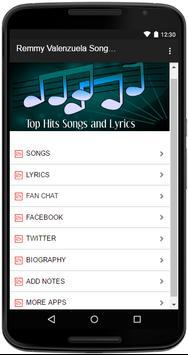 Remmy Valenzuela Songs Lyrics screenshot 1