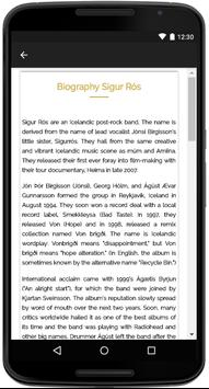 Sigur Rós Songs Lyrics apk screenshot