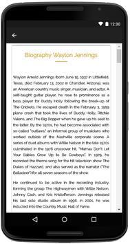 Waylon Jennings Songs Lyrics screenshot 4