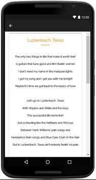 Waylon Jennings Songs Lyrics screenshot 3