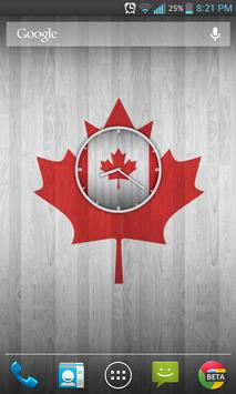 Canadian Wooden Flag Clock poster