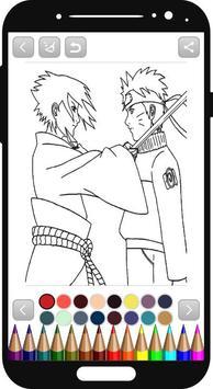 Naruto Coloring Book Poster