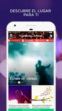 Cantantes poster