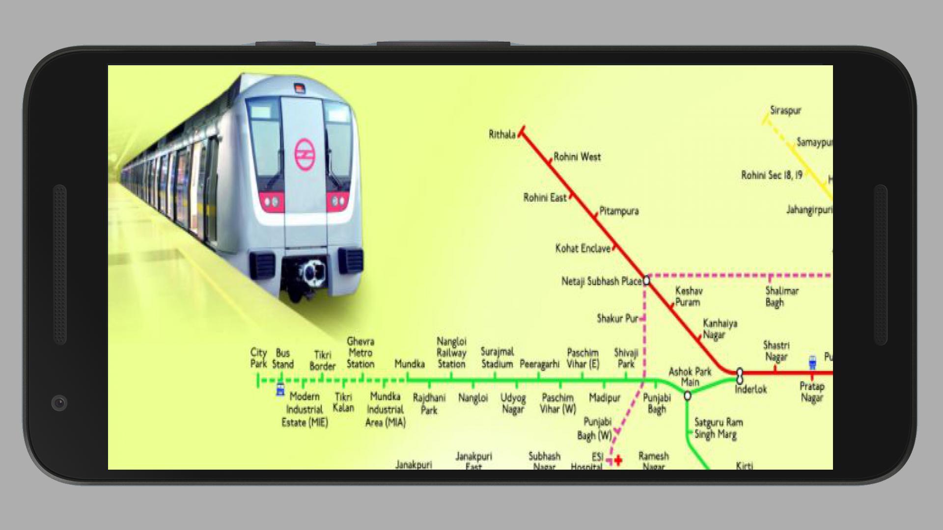 Delhi Metro Map Free New Fare, Route 2018 for Android - APK