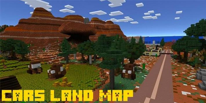 Mod Cars Land Map MCPE poster