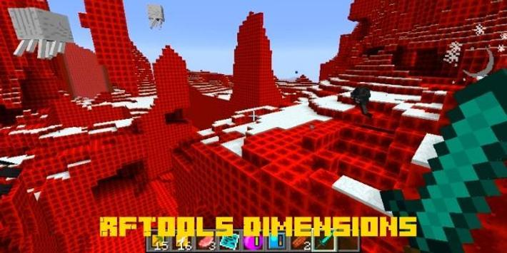 RFTools Dimensions Mod MCPE screenshot 1