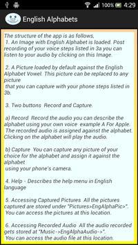 English Alphabets apk screenshot