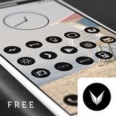 Dark Void - Black Circle Icons (Free Version) icon