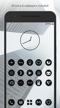 Dark Void - Black Circle Icons (Free Version) poster