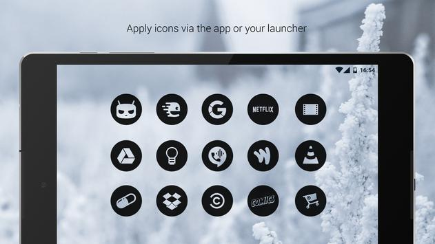 Dark Void - Black Circle Icons (Free Version) apk screenshot