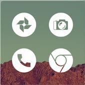 Light Void - Flat White Icons (Free Version) icon