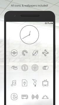 Lines Dark - Black Icons (Free Version) poster