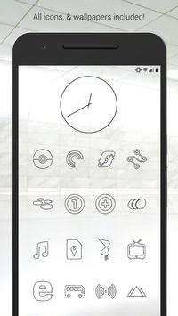 Lines Dark - Black Icons (Free Version) poster