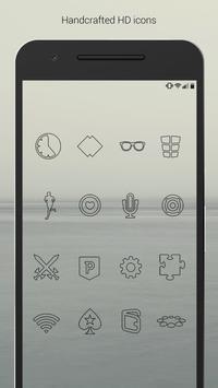 Lines Dark - Black Icons (Free Version) apk screenshot