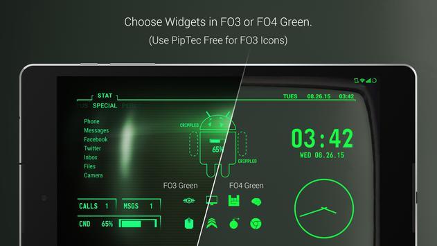 PipTec Pro - Green Icons & Live Wallpaper apk screenshot