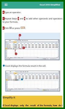 Learn Excel 2010 Tutorial apk screenshot