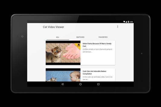 Cat Video Viewer apk screenshot