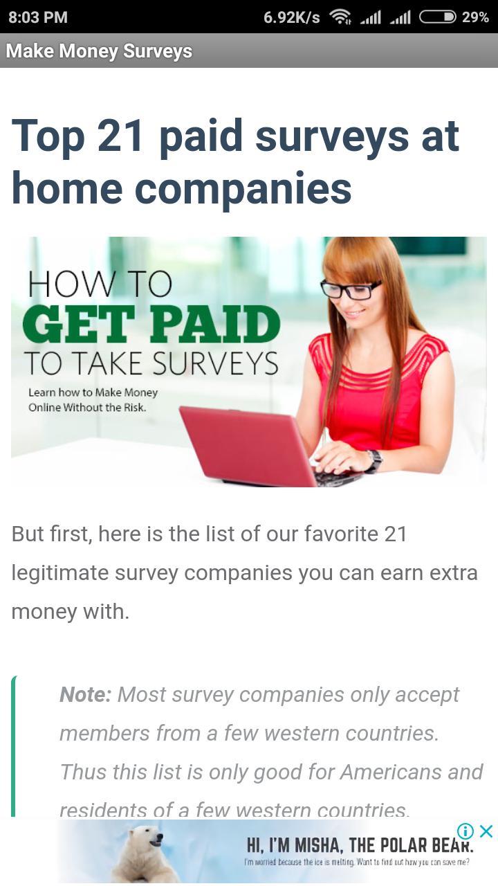 Make Money Taking Surveys for Android - APK Download