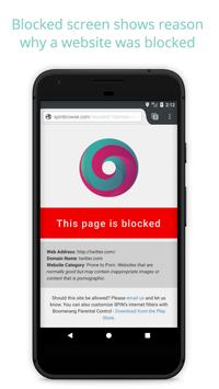 SPIN Safe Browser apk screenshot