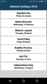 National Holidays India (2018) poster