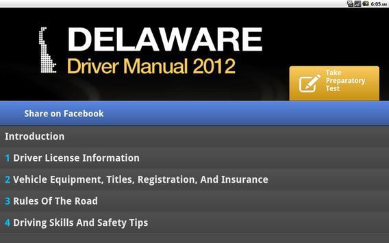 Delaware Driver Manual Free screenshot 2