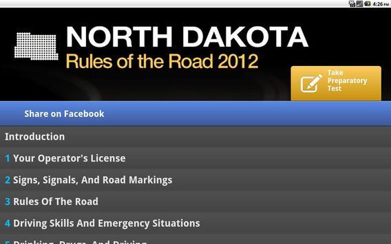 North Dakota Driver Manual $0 apk screenshot