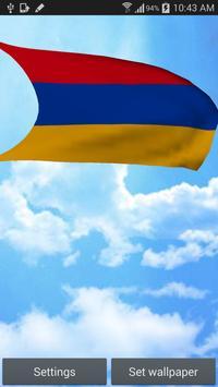 3D Armenia Flag Live Wallpaper poster