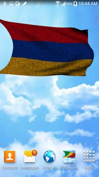 3D Armenia Flag Live Wallpaper apk screenshot