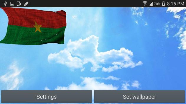 Burkina Faso Flag Wallpaper apk screenshot