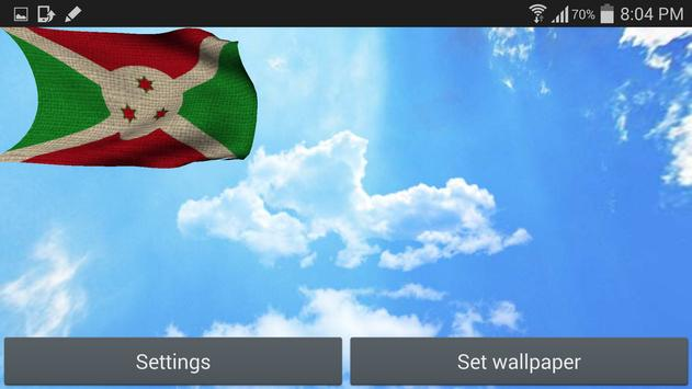 Burundi Flag Live Wallpaper apk screenshot