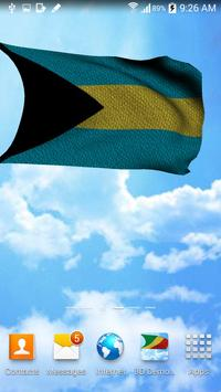 3D Bahamas Flag Wallpaper Free screenshot 2