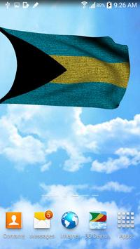 3D Bahamas Flag Wallpaper Free screenshot 3
