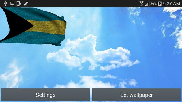 3D Bahamas Flag Wallpaper Free screenshot 7