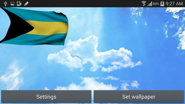 3D Bahamas Flag Wallpaper Free screenshot 8