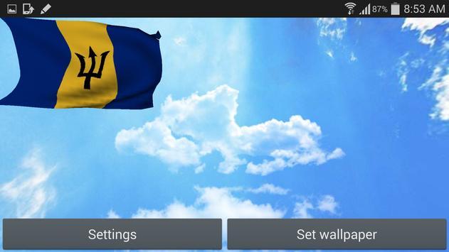 Barbados Flag Live Wallpaper apk screenshot