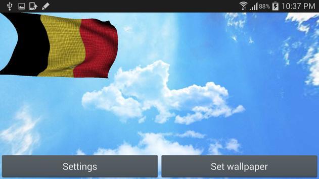 Belgium Flag Live Wallpaper apk screenshot