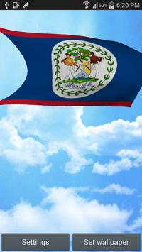 Belize Flag Live Wallpaper poster