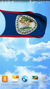 Belize Flag Live Wallpaper apk screenshot