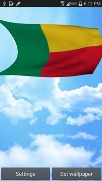 Benin Flag Live Wallpaper poster
