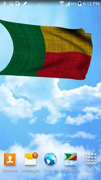 Benin Flag Live Wallpaper apk screenshot