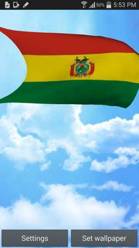 Bolivia Flag 3D Live Wallpaper poster