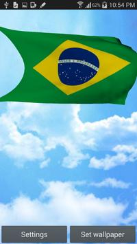 3D Brazil Flag Live Wallpaper poster