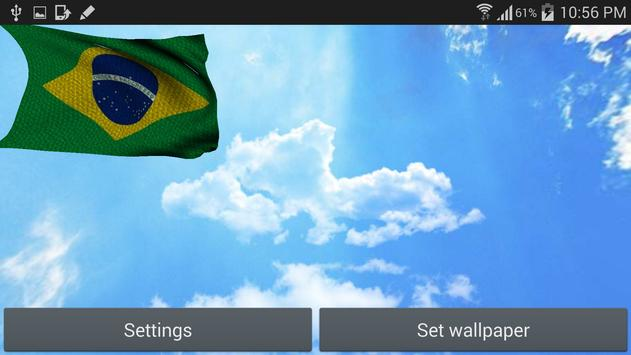 3D Brazil Flag Live Wallpaper apk screenshot