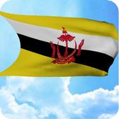 3D Brunei Flag Live Wallpaper icon