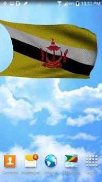 3D Brunei Flag Live Wallpaper screenshot 2
